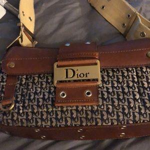 vintage authentic Dior shoulder bag